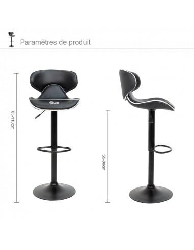 ise tabouret de bar lot de 2. Black Bedroom Furniture Sets. Home Design Ideas
