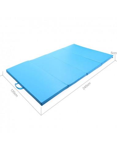Ise tapis de sol 240cm tapis de gymnastique pliable natte de gym matelas fitness 240 x 120 x 5 - Tapis de musculation abdominale ...