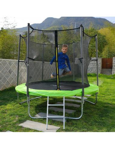 ISE Trampoline extérieur enfant 185cm avec filet - Sotchi SY-1108