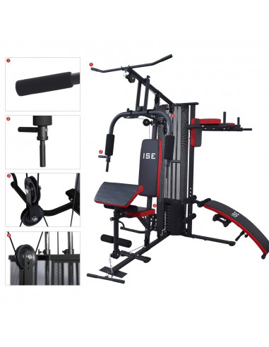 ise station de musculation appareil de musculation fitness multifonction avec poids sy 4009. Black Bedroom Furniture Sets. Home Design Ideas