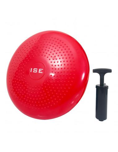 ISE Coussin d'assise Coussin d'équilibre Balle de Fitness Balle d'exercice Coloris rouge SY-AP1001