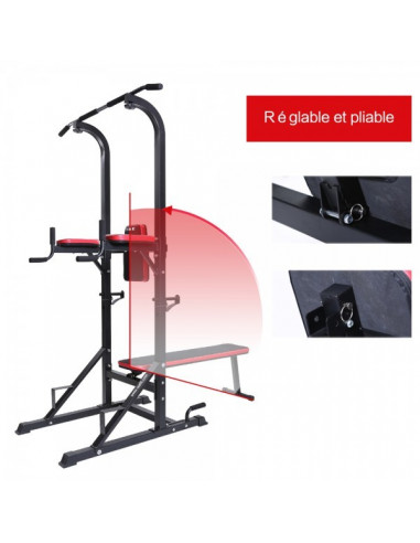ISE Chaise romaine multifonction Station de musculation SY-4006