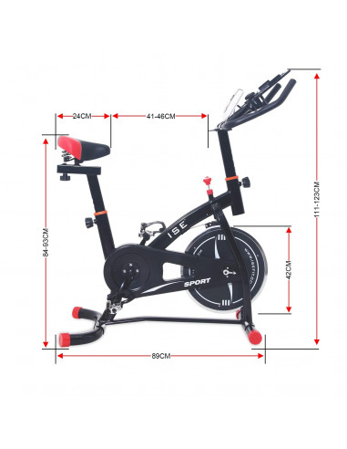 ISE - Vélo d'appartement Biking -...