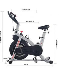 ISE Vélo d'appartement avec Compteur et Porte-Bouteille Volant Moteur en Fonte 5KG SY7020