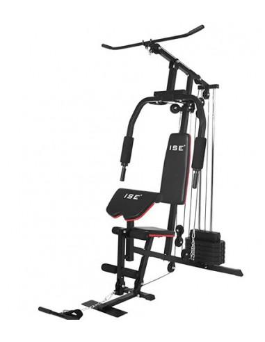 ISE Appareil de Musculation Multifonctionnel, Station de Musculation avec Poids 30KG SY4902