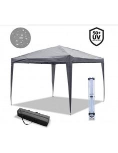 ISE 3x3m Tonnelle de Jardin Tente Réception Pavillon Aluminium Pliable,ZP3001-GY