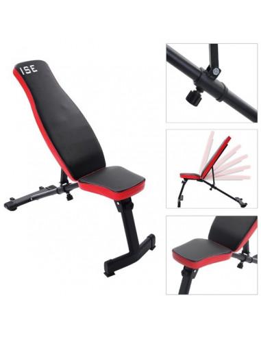 Lot ISE Chaise Romaine Musculation et ISE Banc de musculation inclinable pliable