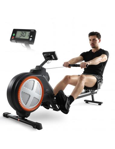 ISE Rameur, Rameur d'appartement Pliable, Écran LCD, Cardio Fitness à Domicile SY-1757