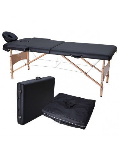 ISE Table de Massage Pliante 2 Zones...