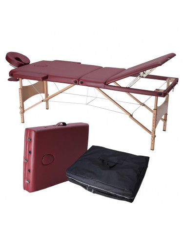 ISE Table de Massage Pliante 3 Zones...