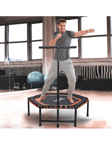 ISE Trampoline de Fitness (orange) -...